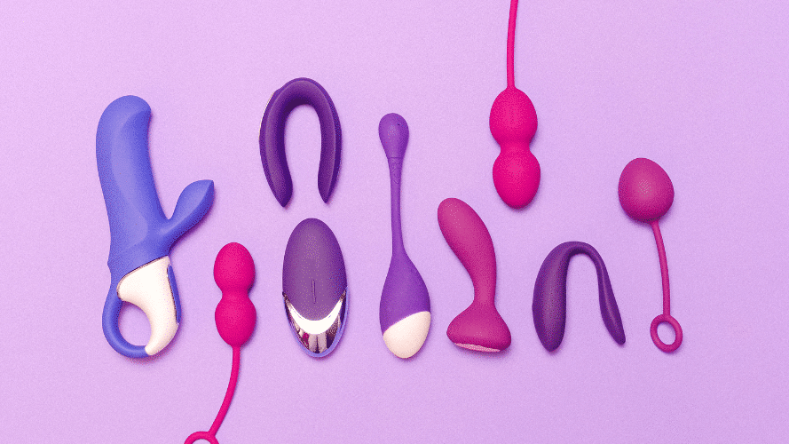 Verschiedene Sex Spielzeuge